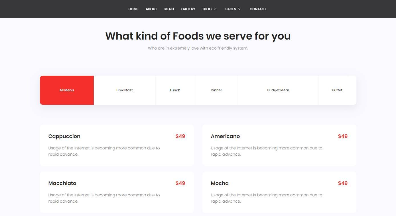 Marco: a Tasty and Delicious Free Bootstrap Restaurant Website Template