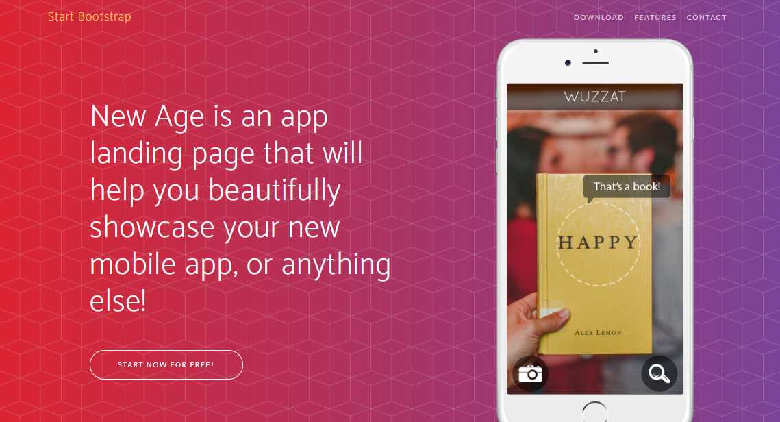 New Age: A Mobile App Landing Page