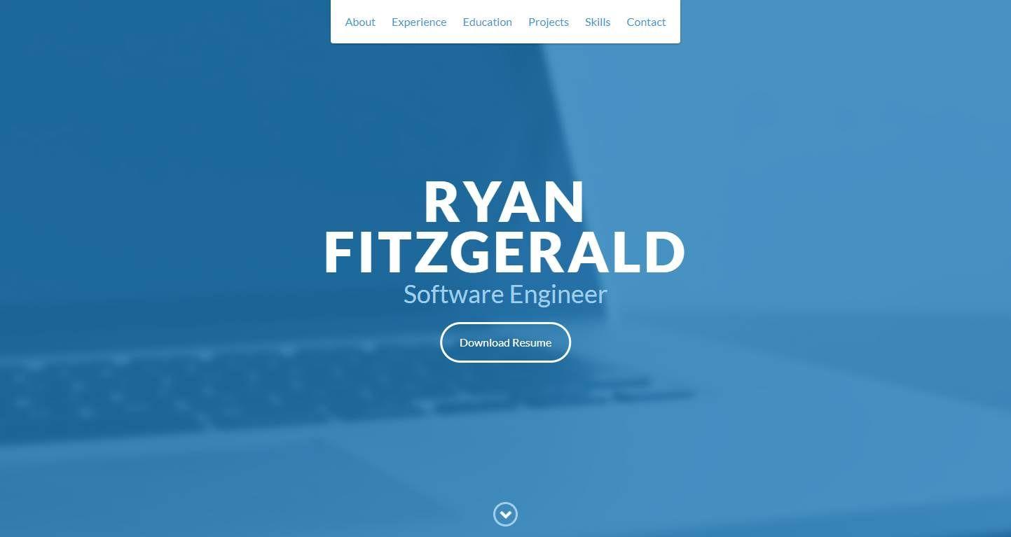 Dev Portfolio: A lightweight, customizable single-page personal portfolio