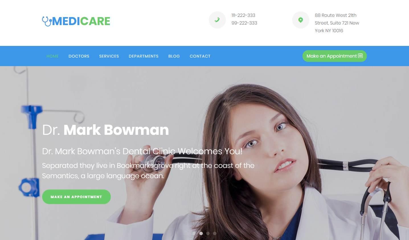 medicare  a free hospital and clinics website template