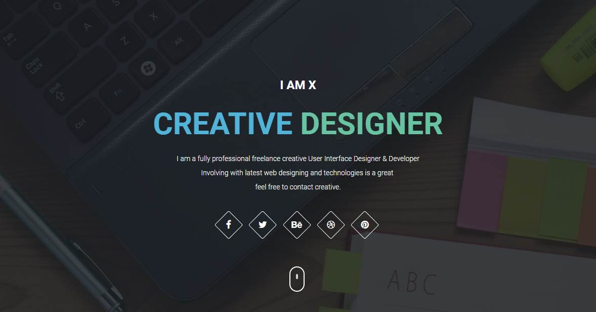 IAMX: Bootstrap HTML Resume Template