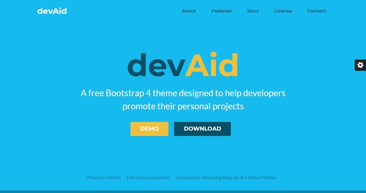 DEVAID: A Developer Bootstrap Theme