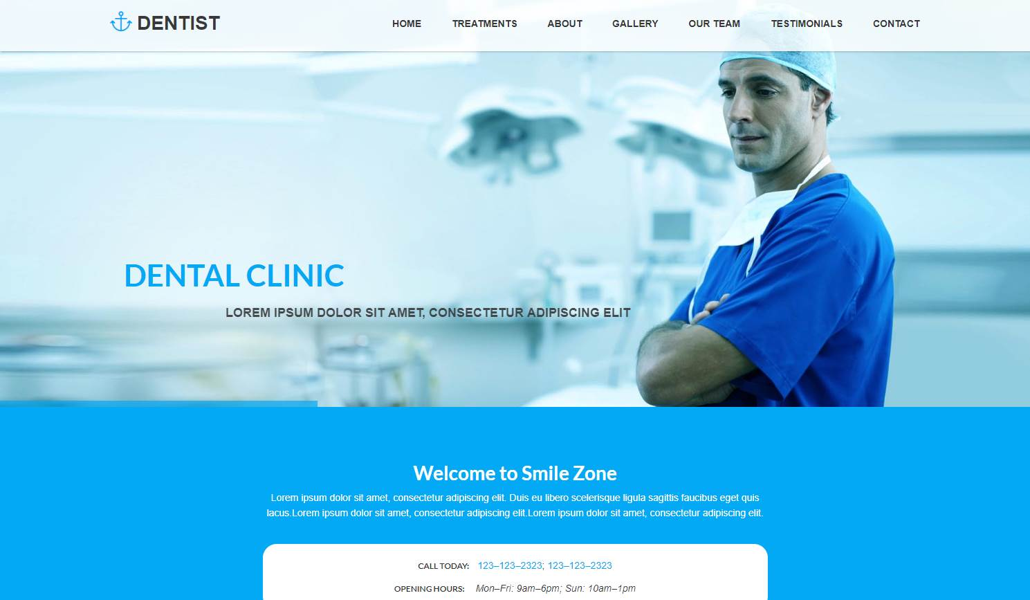 Dentist: A Dental Clinic HTML Website Template