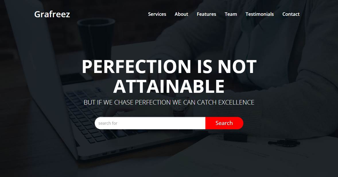Perfection: A Bootstrap Responsive Template