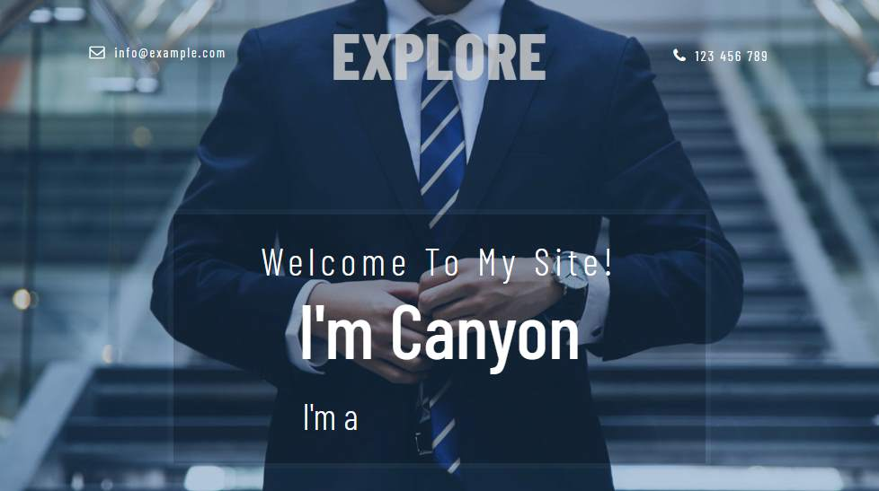 Explorer: Personal Curriculum Website Template
