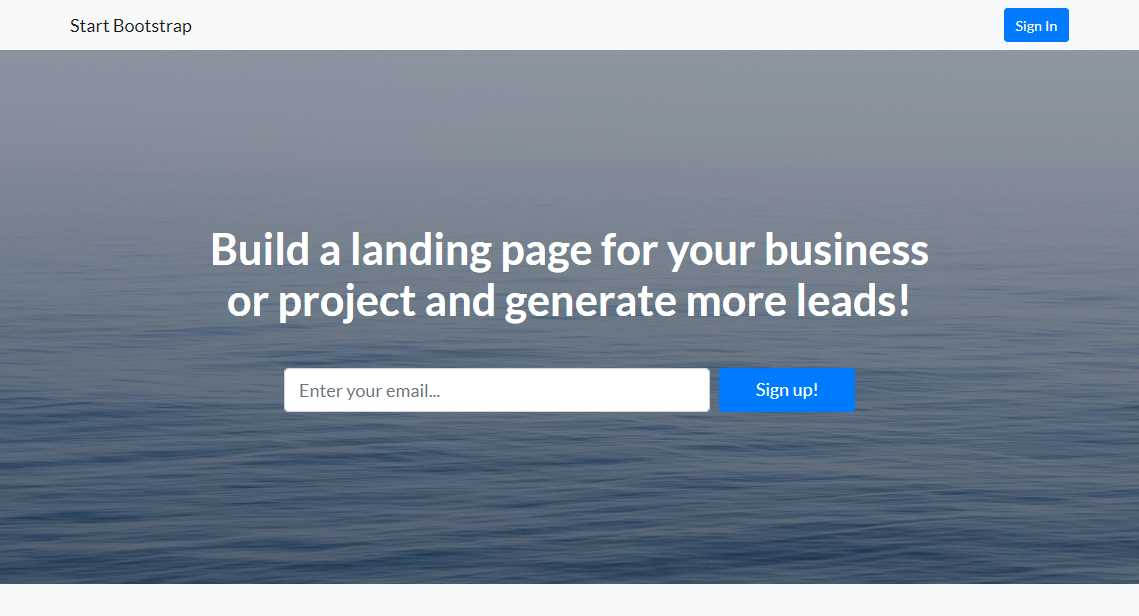 Landing Page: A Responsive Business Template