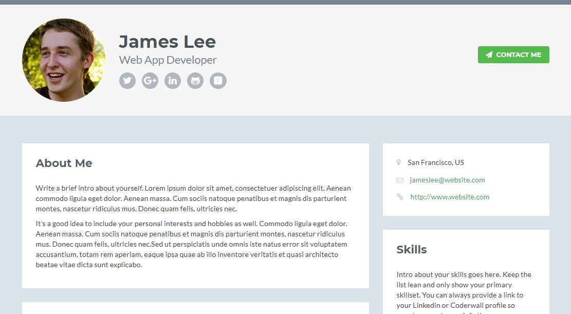 Personal Pages Templates - theminecraftserver.com - Best Resume ...