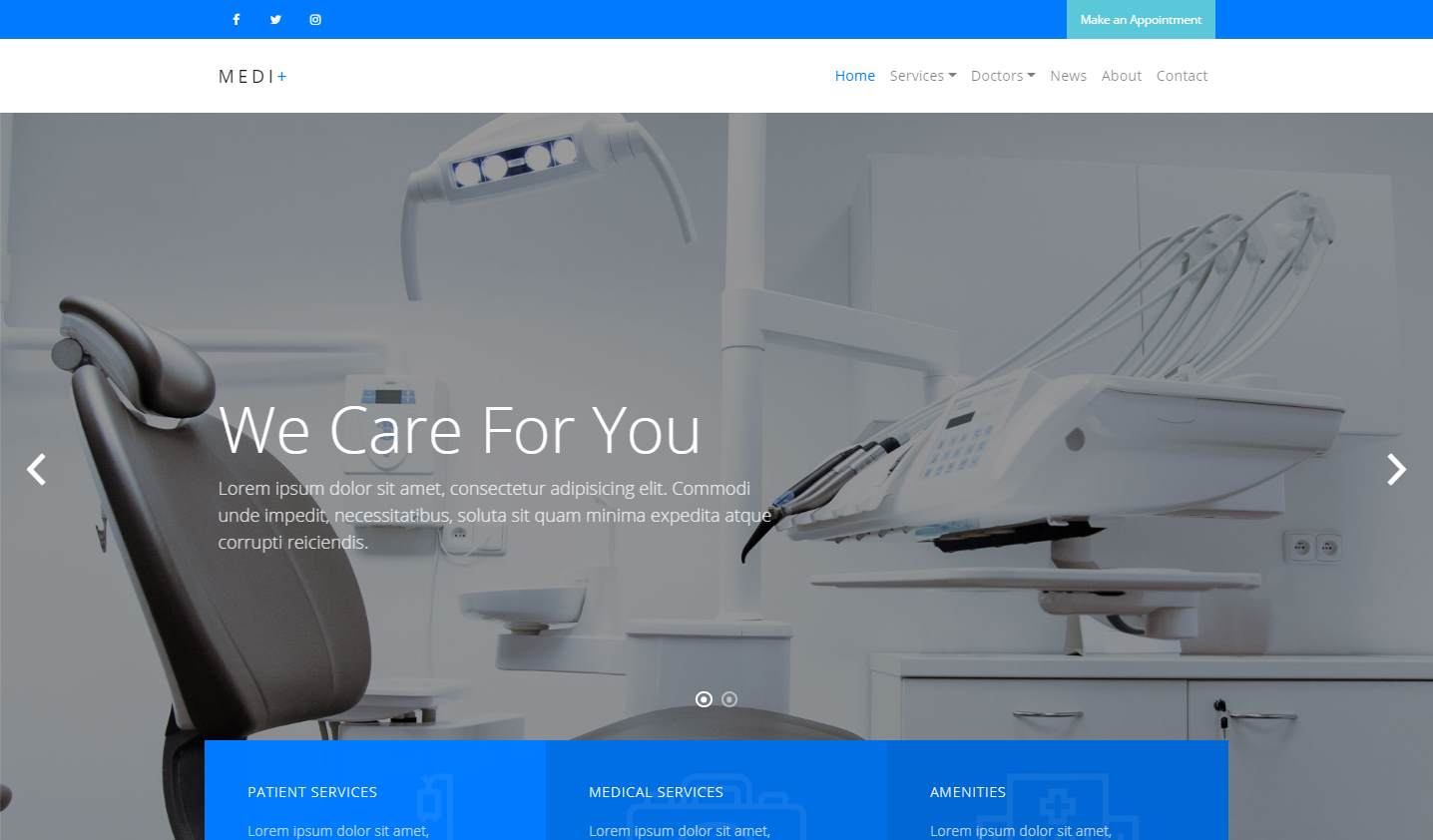 Medi+:  a Beautiful, Professional Medical Website Template