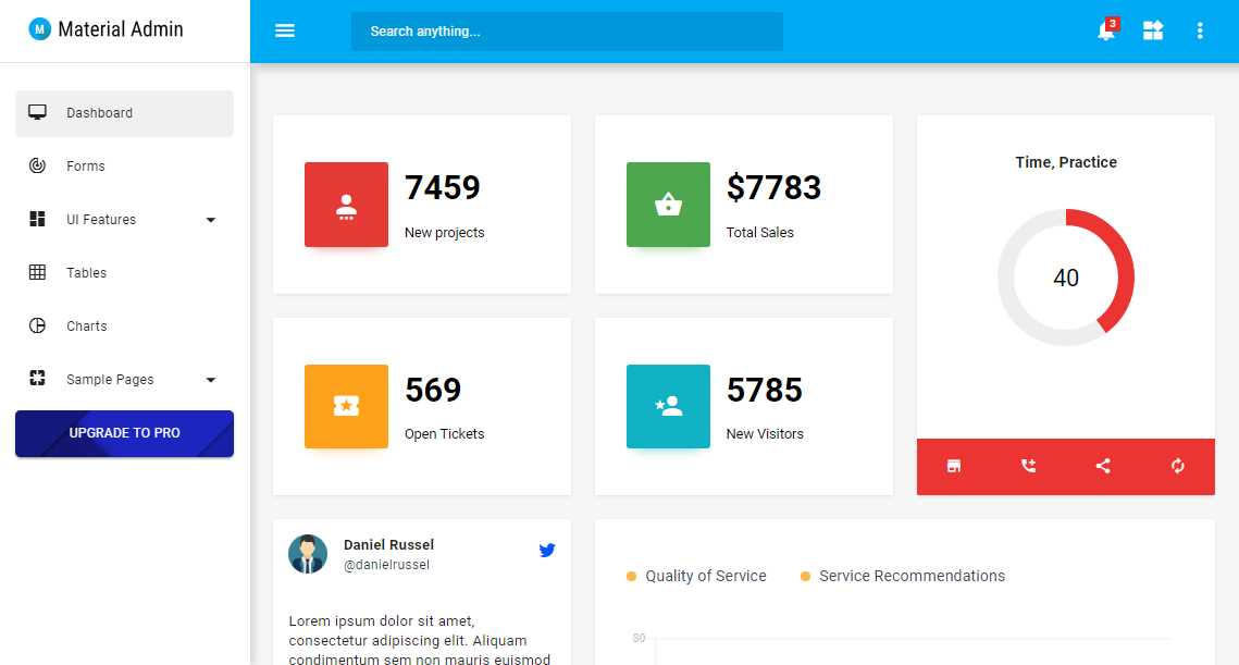 Material Admin: A light Material Design Template