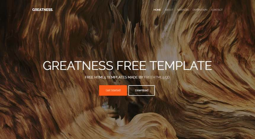 Greatness: Free Multi Purpose Bootstrap Website Template
